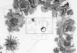 Philip Johnson    s Other Career  Landscape Architecture    CurbedGlass House site plan via The Glass House