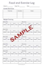 Diet Workout Journal Food And Exercise Log