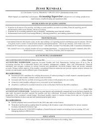 Cover Letter Accounting Supervisor Resume Objective Statement