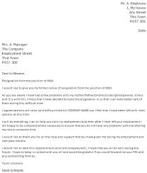 Examples Of Resign Letters Resignation Letter Due To Family Issue