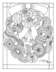 plain christmas wreath coloring page.  Christmas Christmas Ornament Wreath  Coloring Page Inside Plain Coloring Page O