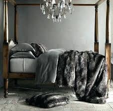 faux fur comforter set fur bed