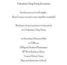 valentines party invitations valentines party invitations for singles wording free word templates