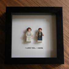 lego star wars art frame han solo princess leia lego minifigure display wedding gift wall decor picture frames displays
