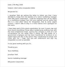 resignation letter format with notice period format for resignation letter