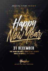 New Year Flyers Template Gold New Year Template