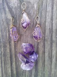 raw amethyst necklace pendant boho necklace healing stone bronze amethyst pendulum point raw crystal stone birthstone