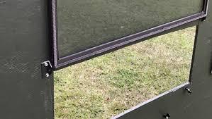 plexiglass windows exh deer blind window hinges home beautiful