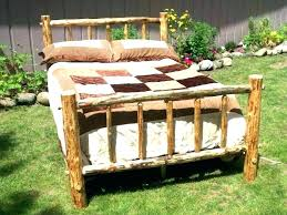 Log Queen Size Bed Frame Wood – adfacil.co