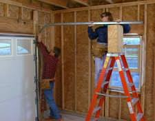 garage door tracksHOMETIME HOW TO Garages  Installing a Garage Door