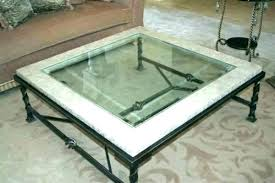 wrought iron glass coffee table legs co top with full size