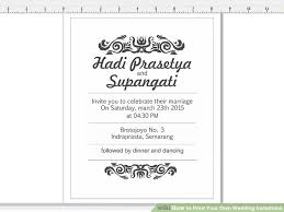Print Your Own Invites 7 Ways To Print Your Own Wedding Invitations Wikihow