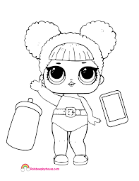 Queen Bee Lol Doll Coloring Page Rainbow Playhouse Coloring Pages