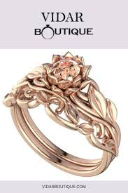 Design Your Own Morganite Engagement Ring Unique Lotus Flower Engagement Ring With Morganite In 2019