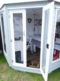 summer house office. Interesting Office Light Green And White Summerhouse Shed Office Intended Summer House Office E