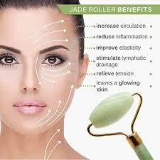 ผลการค้นหารูปภาพสำหรับ Jade Roller Elliptical Massager Eye Face Neck