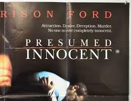 Presumed Innocent Book Presumed Innocent Original Cinema Movie Poster From Pastposters 15
