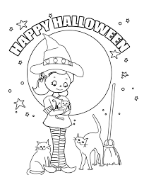 Small Picture Halloween Coloring Pages Preschoolers Miakenasnet