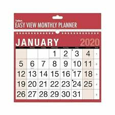 easy calendars 2020 calendar wall calendars easy view monthly planner one month to view ebay