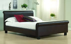 Time Living Aurora Faux Leather Bed Frame Mattress Online Regarding ...