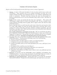How To Write A Formal Lab Report For Chemistry Jan 1 2017 Lab Reports For Chemistry Formal Lab Report Example