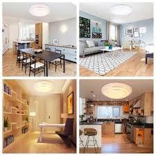 Kitchen Flush Mount Ceiling Lights 24w Led Round Flush Mount Ceiling Light Downlight Kitchen Bathroom