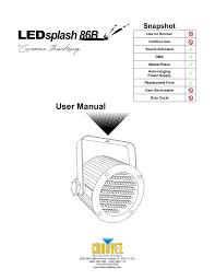 Chauvet Rgb Color Chart Chauvet 86 User Manual Manualzz Com