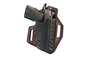 versacarry s new decree line of buffalo hide reinforced owb holsters