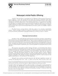 Netscape Case Test Corporate Finance Url Studocu