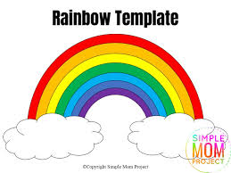 Click the rainbow coloring pages to view printable version or color it online (compatible with ipad and. Free Printable Rainbow Templates In Large And Small Simple Mom Project