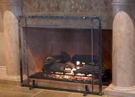 freestanding fireplace screens ironhaus fire pit rustic