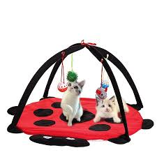 61x 61x 34cm <b>Portable Folding Pet</b> Cat Play foldingbed Bed Mat ...