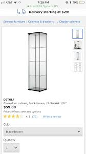 detolf glass door cabinet from ikea
