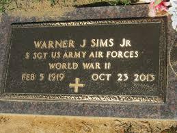 """Warner Julius """"W. J."""" Sims, Jr (1919-2013) - Find A Grave Memorial"""