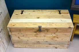 handmade wooden chest with storage