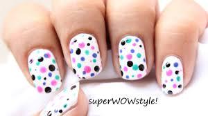 Polka Dots Nail Art - How to use dotting tool - Video Dailymotion