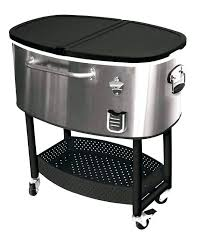 stainless steel patio coolers cooler cart on wheels idea patio coolers for ellipse stainless steel rolling stainless steel patio coolers