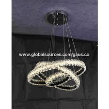 china 2018 new led decoration circle lamp indoor k9 crystal chandelier hanging light