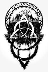Vektorová Grafika Keltské Tetování A Tričko Design Tetování Keltský