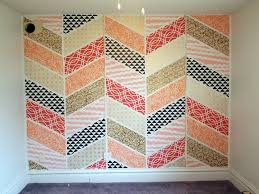 stenciled patchwork herringbone accent wall sawdust and embryos
