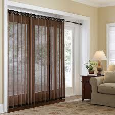 gallery images of the bamboo shades for patio or sliding glass door