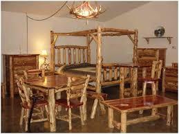 Log Bedroom Furniture Bedroom Rustic Style Bedroom Cedar Log Bed Kits Click Log