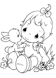 Small Picture Easy Printable Precious Moments Coloring Pages