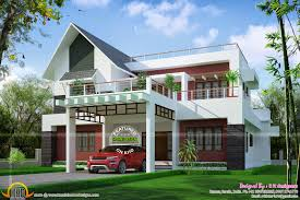 modern house plans european fresh european style home sloping roof in kerala sq m sqft
