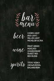 27 Best Wedding Bar Menu Images Chalk Board Wedding Signage Bar