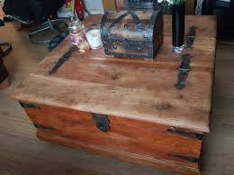 coffee table storage chest trunk