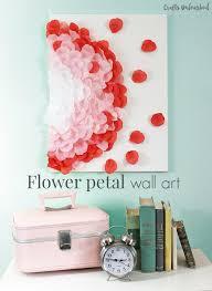 flower petal art wall decor