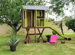 Maisonnette En Bois Loulou Avec Maison De Jardin 182x170x175cm Et