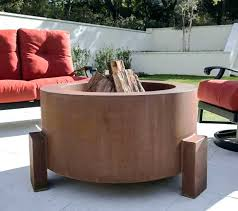 propane fire pit table n tank new wood burning chalice artisan of outdoor with steel