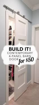 build a modern barn door in a contemporary 4 panel style for 50 ger provides